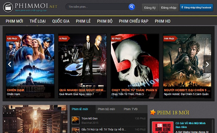 Phimmoi.net - Template blogspot video, phim giao diện giống phimmoi